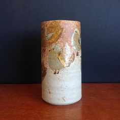 Australian studio pottery vase by Victoria Howlett Brutalist Design, Australian Vintage, Vintage Pottery, Pottery Vase, Contemporary Jewellery, Vintage Buttons, Vintage Jewelry, Victoria, Bird