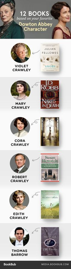 Downton Abbey fans, this is for you! 12 book to read based on your favorite Downton Abbey character.