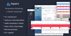 Buy Jeparo - Responsive Bootstrap 4 Admin Dashboard Template by appsitebox on ThemeForest. Jeparo – Responsive Bootstrap 4 Admin Dashboard Template built using bootstrap 4 specifically for dashboard, admin pa. Html Website Templates, Best Templates, Ui Components, Dashboard Template, Web Themes, Admin Panel, Dashboards, Best Wordpress Themes, Business Website