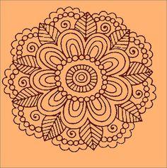 Mandalas para que yo aga Mandalas Painting, Mandalas Drawing, Mandala Coloring Pages, Coloring Book Pages, Dot Painting, Zentangle Patterns, Mandala Pattern, Zentangles, Stencil