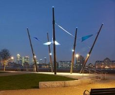 Pepys Park riverside sculptural feature