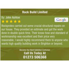 Rockprotex carried out some crucial structural repairs on our house. They provided an...
