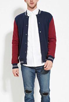 Colorblocked Varsity Jacket | 21 MEN #forever21men