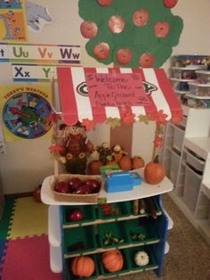 15+ ways to transform a Melissa & Doug Grocery Store for Pretend Play *This apple orchard idea is perfect for kids for fall