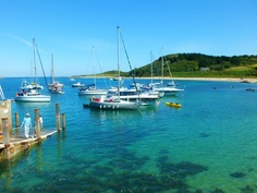 We love the deep blue colour of the water in Jonathan Watson's picture of the harbour in Herm