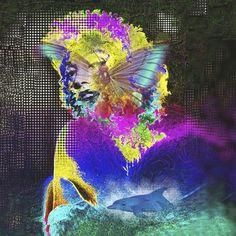 MARILIN  monroe butterfly Art Print