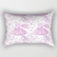 #dance #ballerina #ballet #pink #tutu #balletshoes available in different #homedecor products. Check more at society6.com/julianarw #pillow