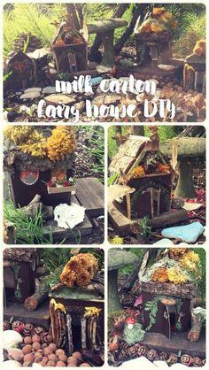 Milk Carton Fairy House DIY