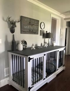 this diy dog crate furniture piece will transform your living room 23 ~ Home Design Ideas Dog Kennel End Table, Diy Dog Kennel, Kennel Ideas, Indoor Dog Kennels, Diy Kennel Indoor, Dog Kennel Designs, Pet Kennels, Tv Stand Dog Kennel, Building A Dog Kennel