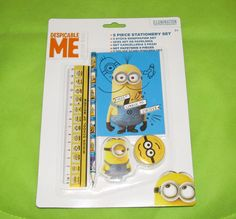 #DespicableMe #Minions 5 Piece Stationery Set