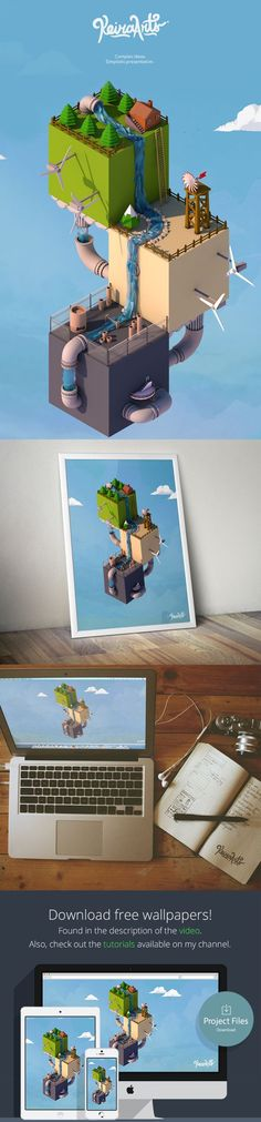 Low poly world - Isometric on Behance: