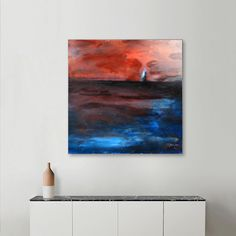 Discover «Open Sea III», Limited Edition Acrylic Glass Print by Jovan Cavor - From $99 - Curioos Lighthouse Painting, Tapestry, Cap, Glass, Prints, Design, Hanging Tapestry, Baseball Hat, Tapestries