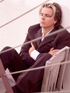 Duran Duran- John Taylor When he's sober, and he's been for years, #proud, he's a very deep thinker. Lost in thought.