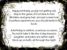 Find a Funny 50th Birthday Poem