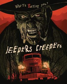 Illustrators create 80s homages to cult classic horror movies for DVD & Blu-ray re-releases - Digital Arts Jeepers Creepers