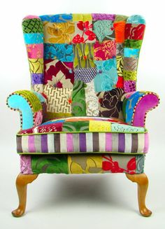 Ideas For Patchwork Chair Boho Couch Funky Furniture, Classic Furniture, Unique Furniture, Painted Furniture, Furniture Makeover, Furniture Market, Boho Couch, Patchwork Chair, Patchwork Blog