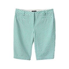 Lands' End Green regular seersucker bermuda shorts | Debenhams
