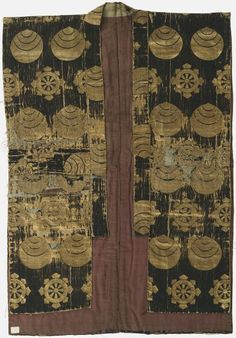 SOCERER'S ROBE, BLUE AND GOLD Costume Japanese Kamakura period, 1185-1333 Creation Place: Japan
