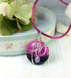 Wire wrapped pink druzy agate pendant by tstreasuresjewelry