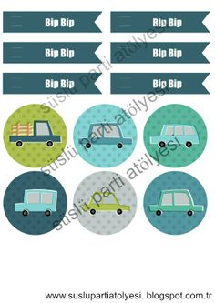 beep beep car  party printable