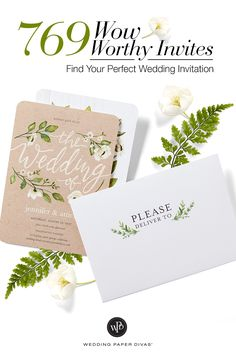 Get inspired to find the perfect wedding invitation for your outdoor celebration to city romance nuptials. Whatever your theme or style, you'll have hundreds of options to make your own.