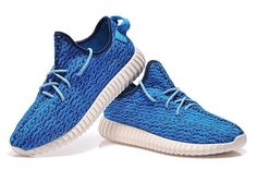 2015 New Men's Shoes Kanye West Blue Yeezy 350 Boost Athletic Boots (HOT!) #Adidas #FashionSneakers