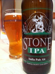 This is my attempt to remember all the beers that I have indulged in.  I believe I will be need to start a beer notebook as my memory is failing  263. Stone – Stone IPA India Pale Ale