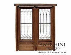 Mahogany Double Front Door wrought