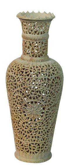 Bulk Wholesale Crackle Glazed Ceramic Vase Hand Painted Black