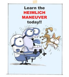 #Minions, Learn the Heimlich Maneuver today!!