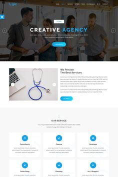 Logic - Material Design Agency Template suitable for modern businesses. It is 100% responsive and looks stunning on all types of screens and devices. Well