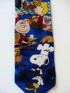 Peanuts Gang Necktie Comic Cartoon What's for by TomCatBazaar Royal Blue Background, Whats For Lunch, All Tied Up, Cool Ties, Peanuts Gang, Neckties, Woodstock, Comic Strips, Charlie Brown