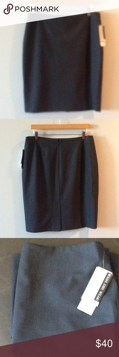 Gray pencil skirt. Machine washable stretch . 52% polyester, 43% wool and 5% Lycra. Part of the platinum collection. Never been worn. Jones New York Skirts Pencil