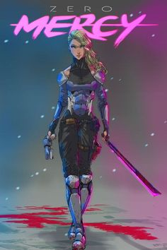 Image result for cyberpunk crime lady
