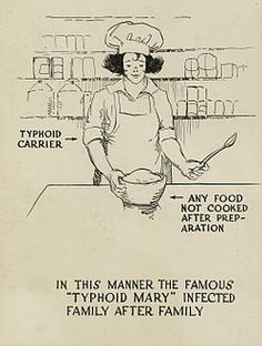 March 27, 1915 – Typhoid Mary (real name Mary Mallon), the first healthy carrier of disease ever identified in the United States, is put in quarantine, where she would remain for the rest of her life. Although she never showed symptoms of typhoid fever herself, she was presumed to have infected some 51 people, three of whom died, over the course of her career as a cook.