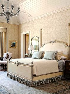 Antique Bedroom Furniture  ~ Country French Bedrooms | Shabby Chic Bedroom Ideas for Women | #shabby #chic #shabbychic #bedroom