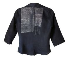 BLACK SHIRT 2011 Reclaimed linen shirt, hand-stitching Collection, Violet Flint
