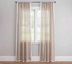 gray not blue print trisha geo sheer drape potterybarn e 2nd street dining room pinterest sheer drapes - Sheer Drapes