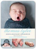 4 Photo Boy Neutral Birth Announcements & Baby Birth Announcement Cards | Shutterfly