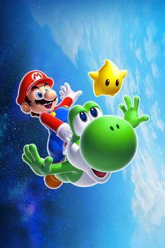 Mario and Yoshi iPhone 5 Wallpaper
