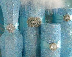 Frozen+prom+decorations | Centerpiece, Wedding Decorations, White, Shabby Chic Wedding, FROZEN ...