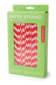 red striped paper straws would look great with the coke bottles