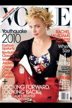 """Vogue Rachel McAdams, great actress! I loved her in """"Morning Glory"""" & """"The Family Stone"""""""
