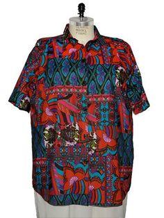 BOP Tops 100% Cotton Kaleidoscope Print Short Sleeve Tunic Top W/Shirring by WeBeBop (0X) Bop Tops by WeBeBop,http://www.amazon.com/dp/B00BL8BMV6/ref=cm_sw_r_pi_dp_yz-krb1H0XKMHCFA