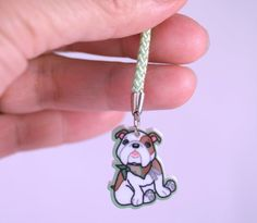Kawaii Bazooks the Bulldog Cellphone Lanyard by BanzaiChicks, $3.00