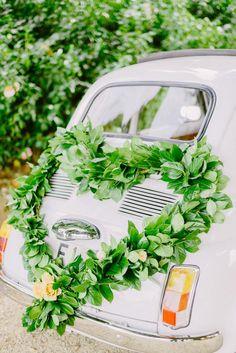 Bridal car decoration - Wedding in Tuscany