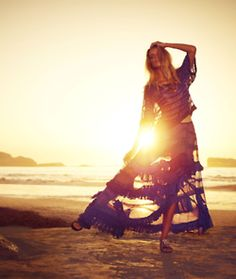 l am toying with the idea of making dresses like this...  Bohemian chic sunset