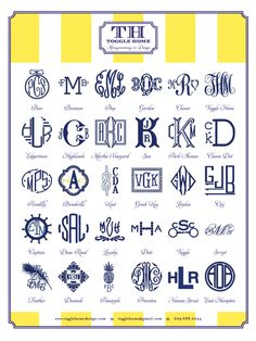 need more monogram options - new software