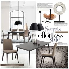 Effortlessly Chic by szaboesz on Polyvore featuring interior, interiors, interior design, home, home decor and interior decorating