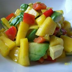 """Avocado-Mango Salsa 
